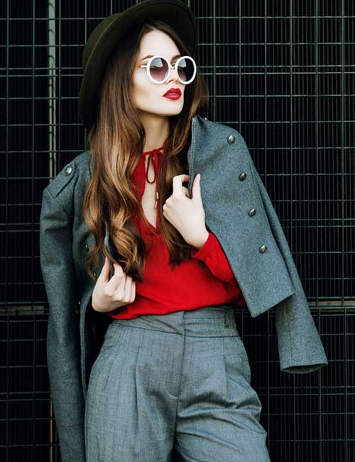 Gray And Red - Colors That Go Well With Red Clothes