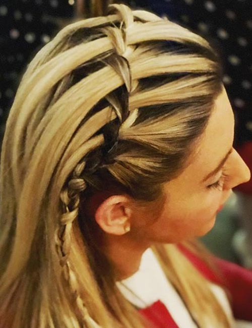 Headband Waterfall Braid