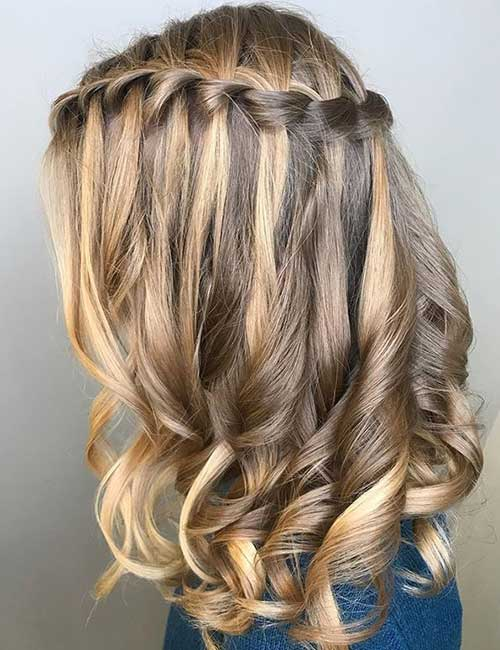 Highlighted Waterfall Braid