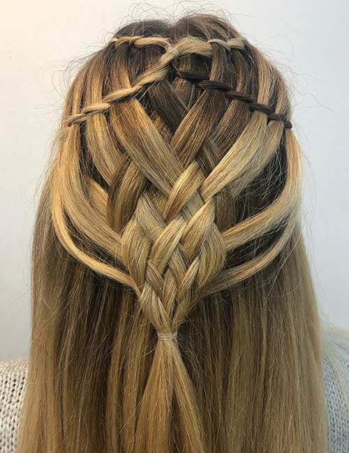 Intricate Waterfall Braid