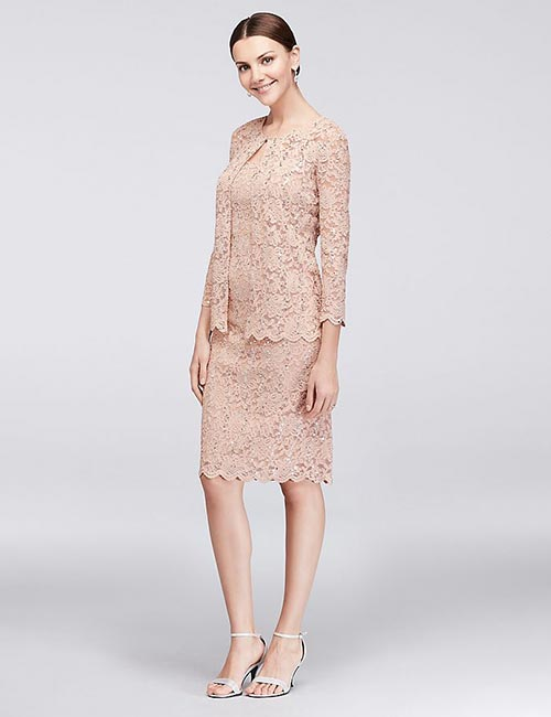 Lace Shift Dress With A Jacket