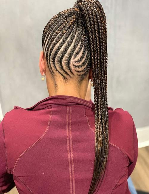 Lemonade Braids High Ponytail