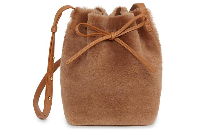 Mansur Gavriel Shearling Bag - Bucket Bags