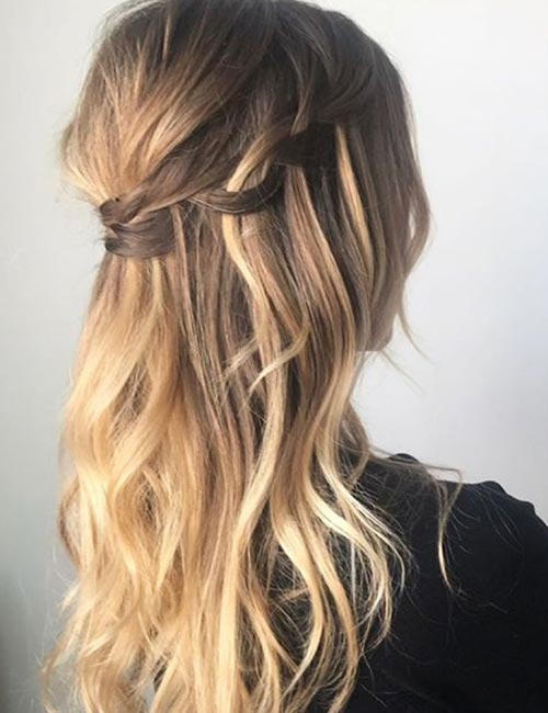 Messy Waterfall Braid