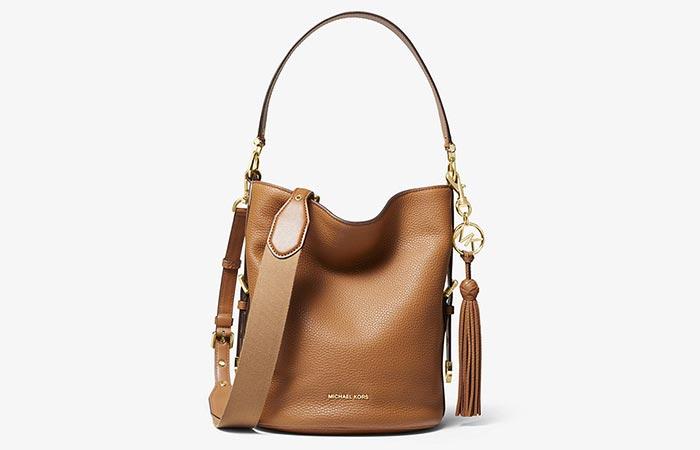 Michael Kors Brooke Medium Pebbled Leather Bucket Bag
