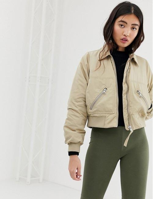 Military Style Bomber Jacket