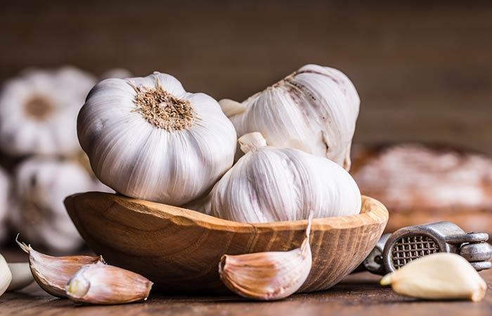 Onion juice and garlic in Hindi
