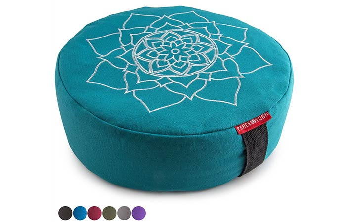Peace Yoga Zafu Meditation Yoga Buckwheat Pillow Cushion- Meditation Cushions