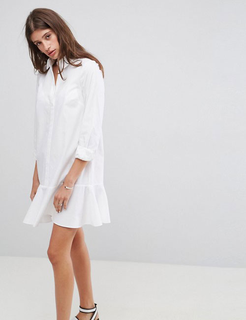 Peplum Shirt Dress - Summer Outfits
