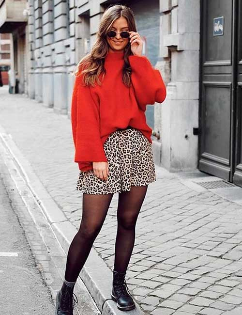 Prints And Red - Colors That Go Well With Red Clothes