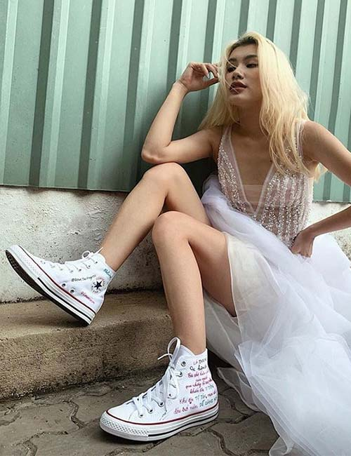 Prom Dress With Converse Shoes