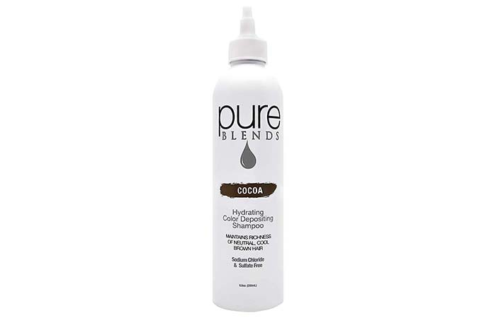 Pure Blends Hydrating Color Depositing Shampoo – Cocoa