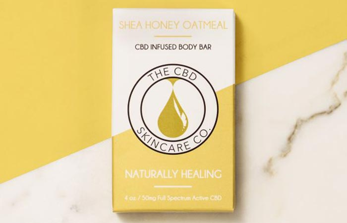 Shea Honey Oatmeal CBD Infused Body Bar
