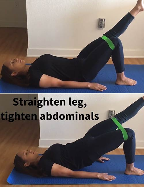 Single Leg Bridge With Resistance Band