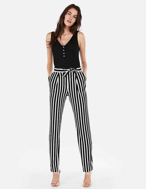 Striped Trousers And Tank Tops - Summer Outfits