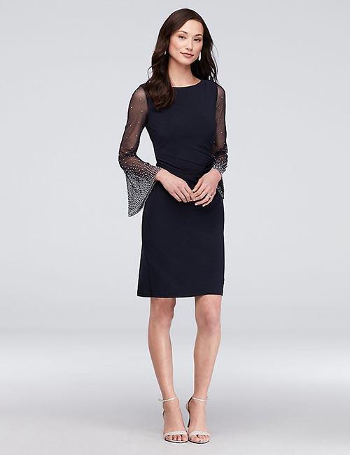 Tea-Length Beaded Dress