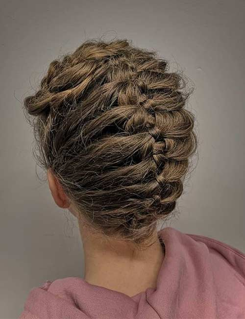 Tucked In 4-Strand Braid