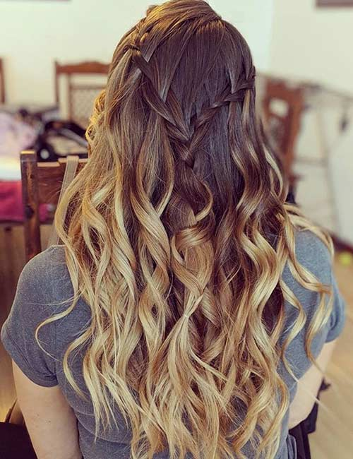 Waterfall Half Ponytail