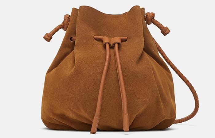 Zara Leather Bucket Bag - Bucket Bags