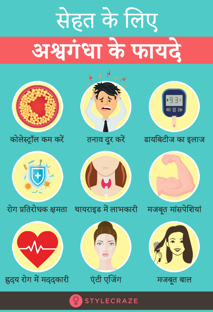अश्वगंधा के 25 फायदे, उपयोग और नुकसान - Ashwagandha Benefits, Uses and Side Effects in Hindi