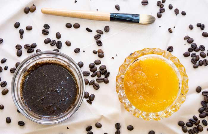 Agave Nectar And Coffee Face Mask And Scrub