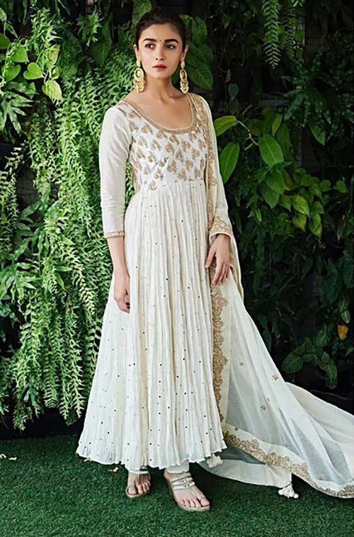 Alia Bhatt's Vision-In-White Anarkali