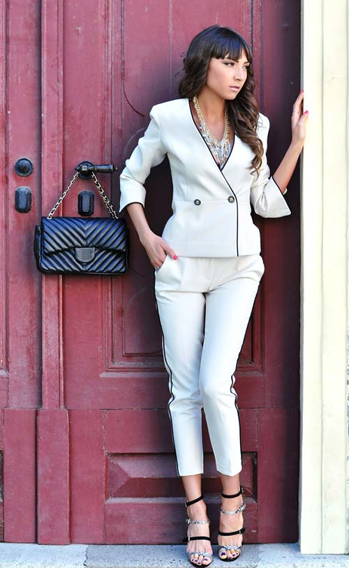 All White Informal Suit