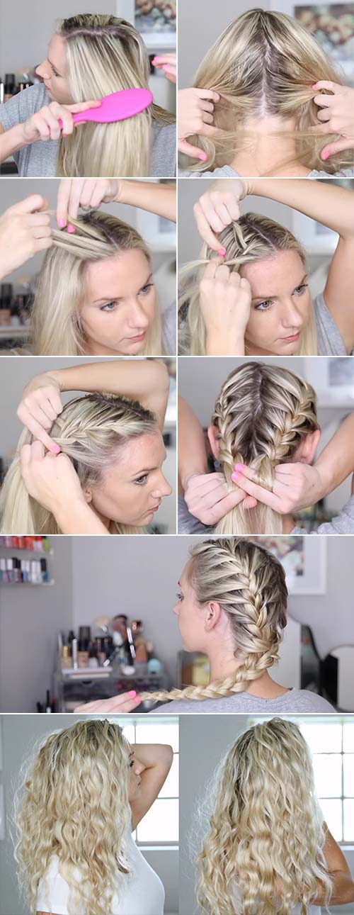 Beach Waves With French Braids