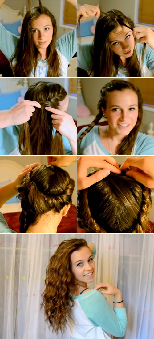Beach Waves With French Twist