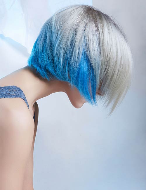 Blue Peekaboo Highlights
