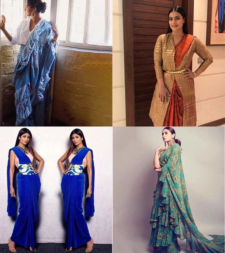 8 Bollywood Actresses Who Rocked Sarees In A Different Way