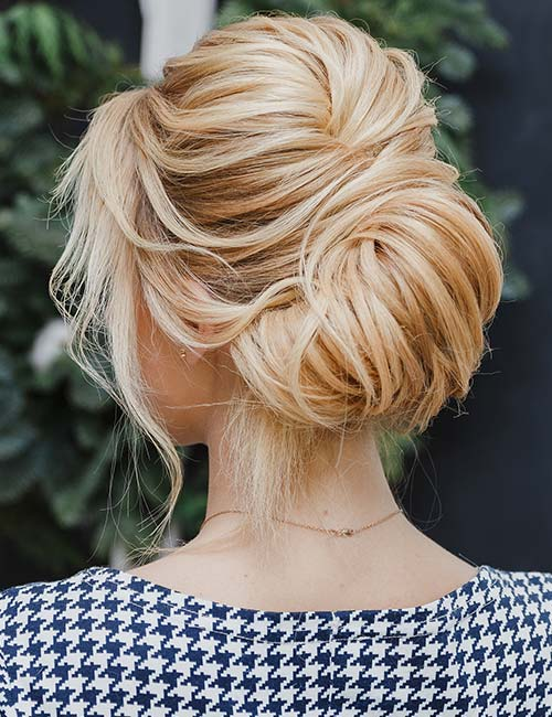 Bouffant With A Low Bun