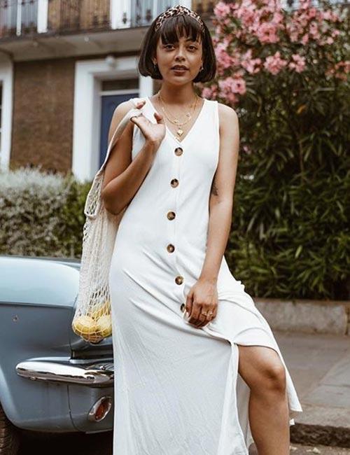Buttoned Maxi Dress