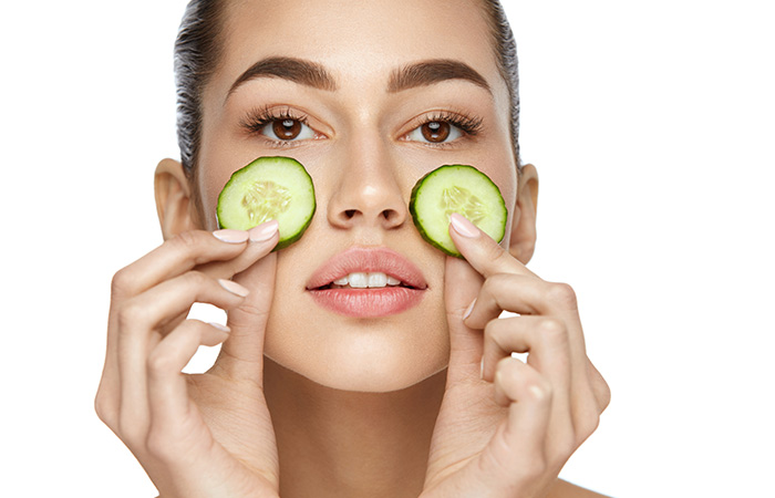 Cucumber for the dark circles in hindi