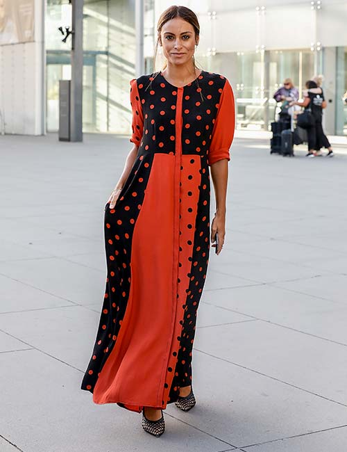 Coral Polka Dot Gown