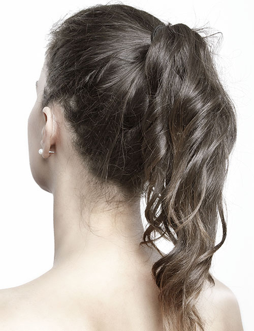 Curly Ends Ponytail