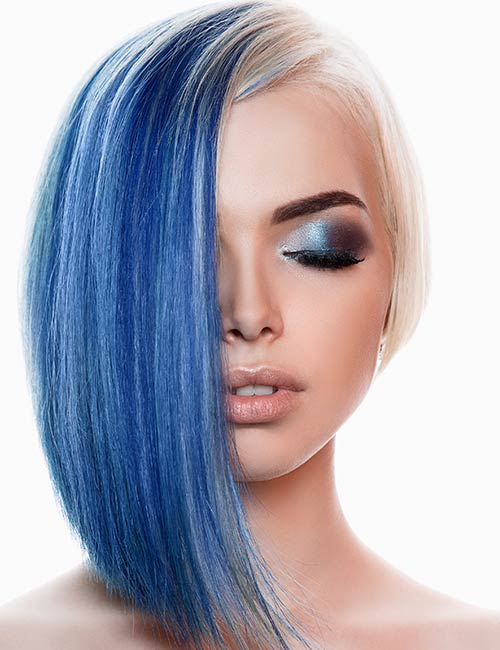Deep Blue And Blonde