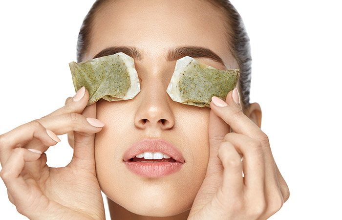 Green Tea for dark circles in hindi