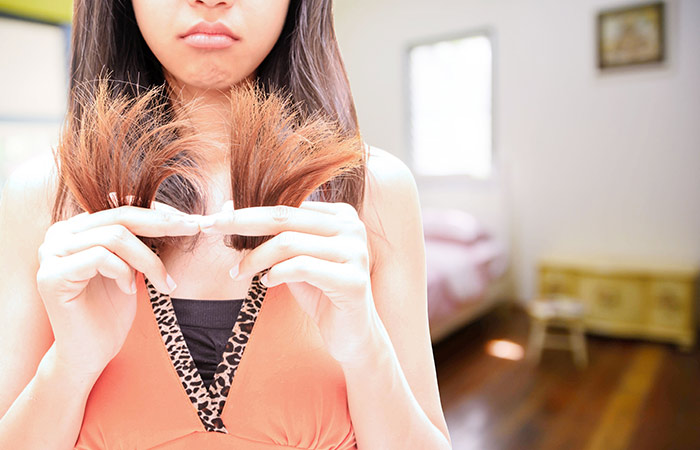Shutterstock </p> </div> <p>  Prevention is better than cure, so if you treat your hair badly, it&#39;s time to pull out your socks and take care of it. Remove hard hair brushes, reduce exposure to heat-sizing tools, and make sure you have protected your hair with serums and anti-dirt protection. Secret advice: Before you go out in the sun, apply serum and make sure that the last rinsing of your hair under the shower should be from cold water to seal the cuticle and protect it from damage. In addition to this, here is a list of things that need to be cautious to keep the tedious split ends &#8211; </p> <h3>  1. Re-think the way the towels dry your hair </h3> <div id=