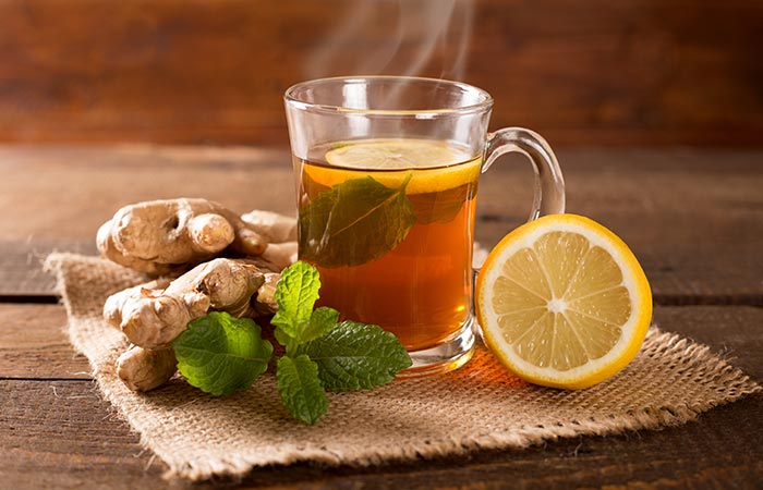 Lemon and ginger tea for Indigestion in Hindi