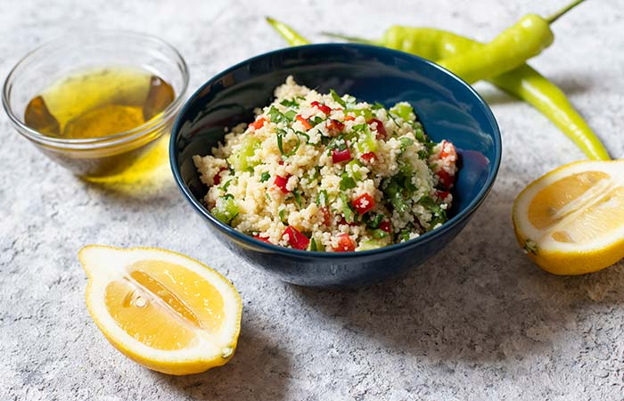 Low Carb Lemon Couscous