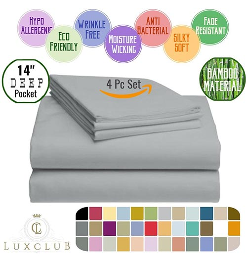 LuxClub Bamboo Sheet Set - Cooling Sheets