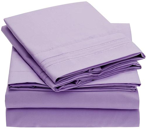 Mellanni Fine Linens Bed Sheet Set - Cooling Sheets