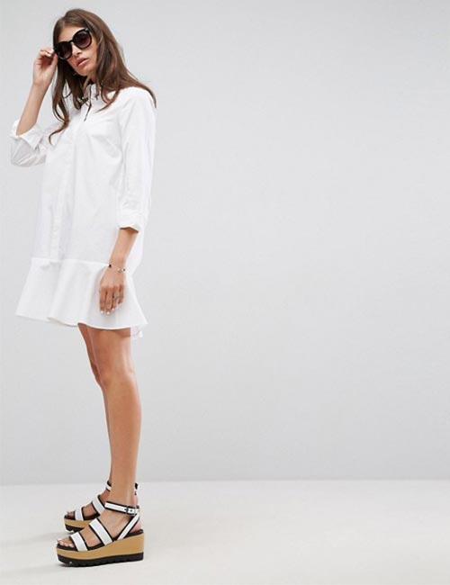 Peplum Shirt Dress