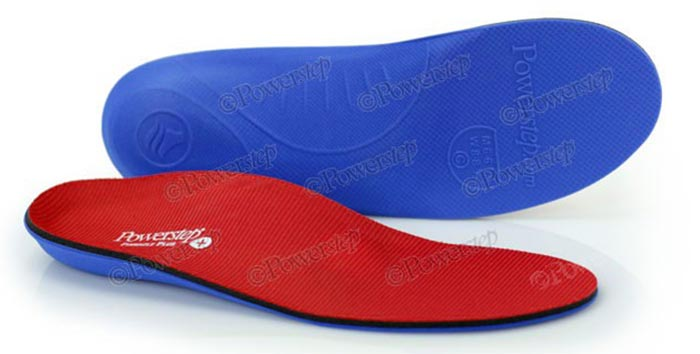 Powerstep Pinnacle Plus Full Length Orthotic Shoe Inserts - Metatarsal Foot Pads
