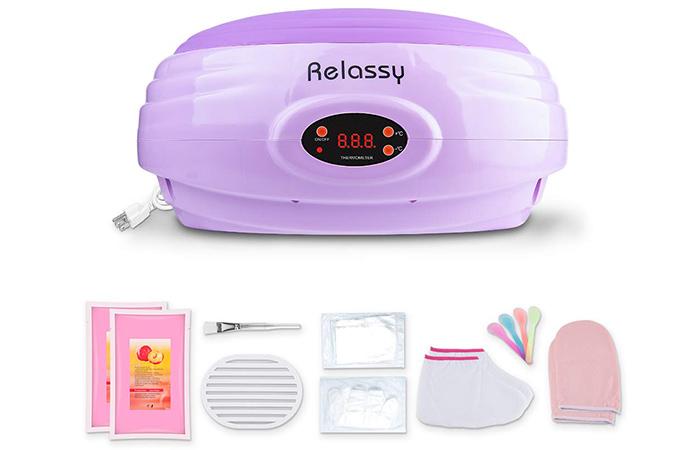 Relassy Violet Paraffin Wax Warmer Kit - Best Paraffin Wax Baths
