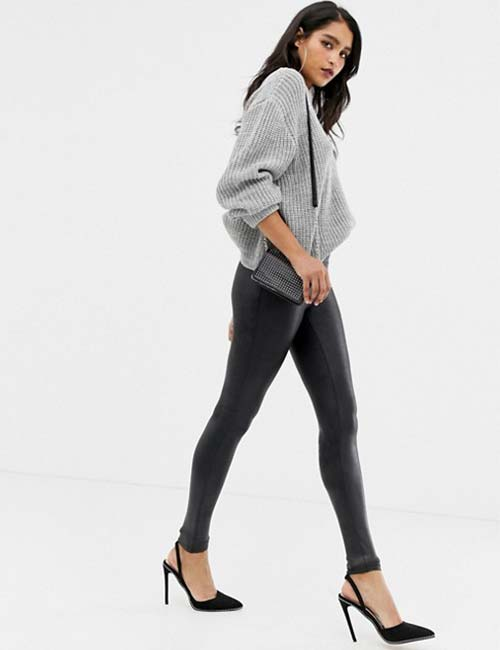 Sculpted High-Waisted Leggings And Sweater