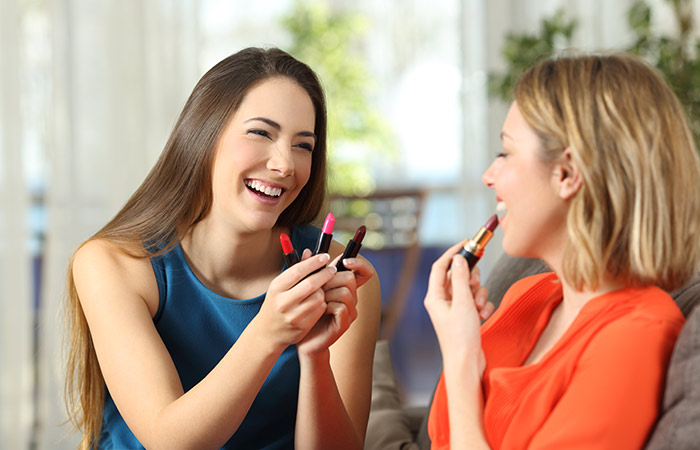 Sharing makeup products with others