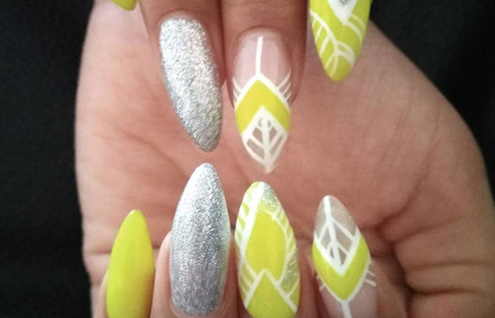 This Lemon-y Geometric Design