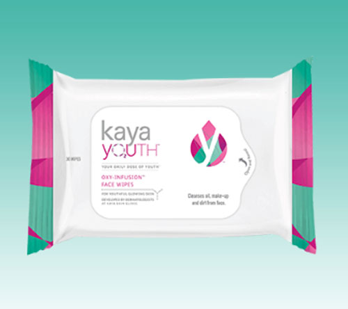 Use the Youth Oxy-Infusion face wipes to keep my skin clean all day
